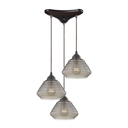 10434/3 Orbital 3 Light Pendant in Oil Rubbed