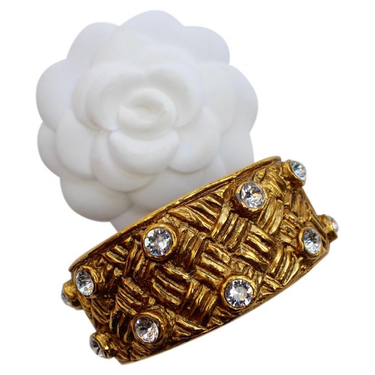 Chanel - Bracelet Baroque pour femme en metal - dore