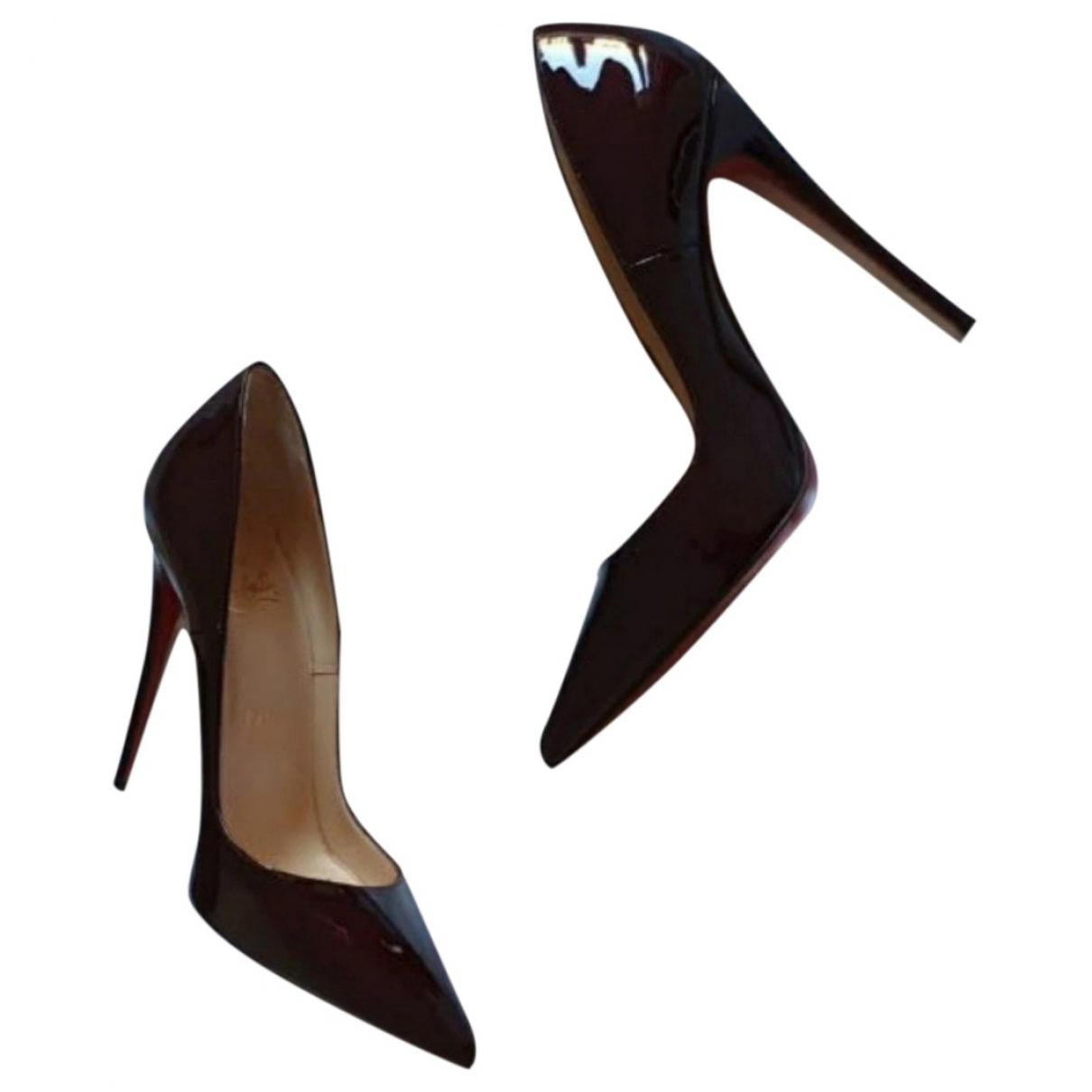 Christian Louboutin So Kate  Burgundy Patent leather Heels for Women 38 EU