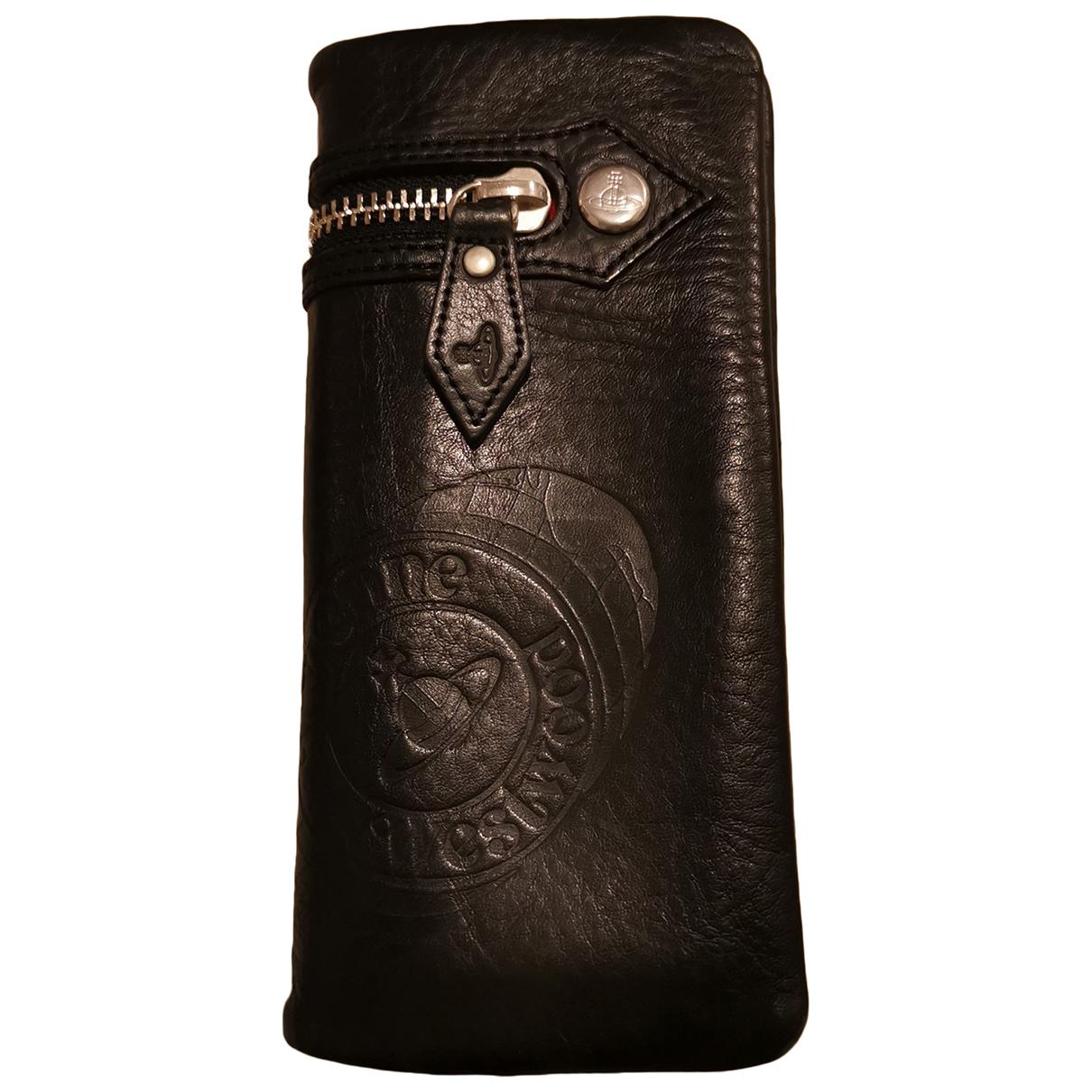 Vivienne Westwood N Black Leather wallet for Women N