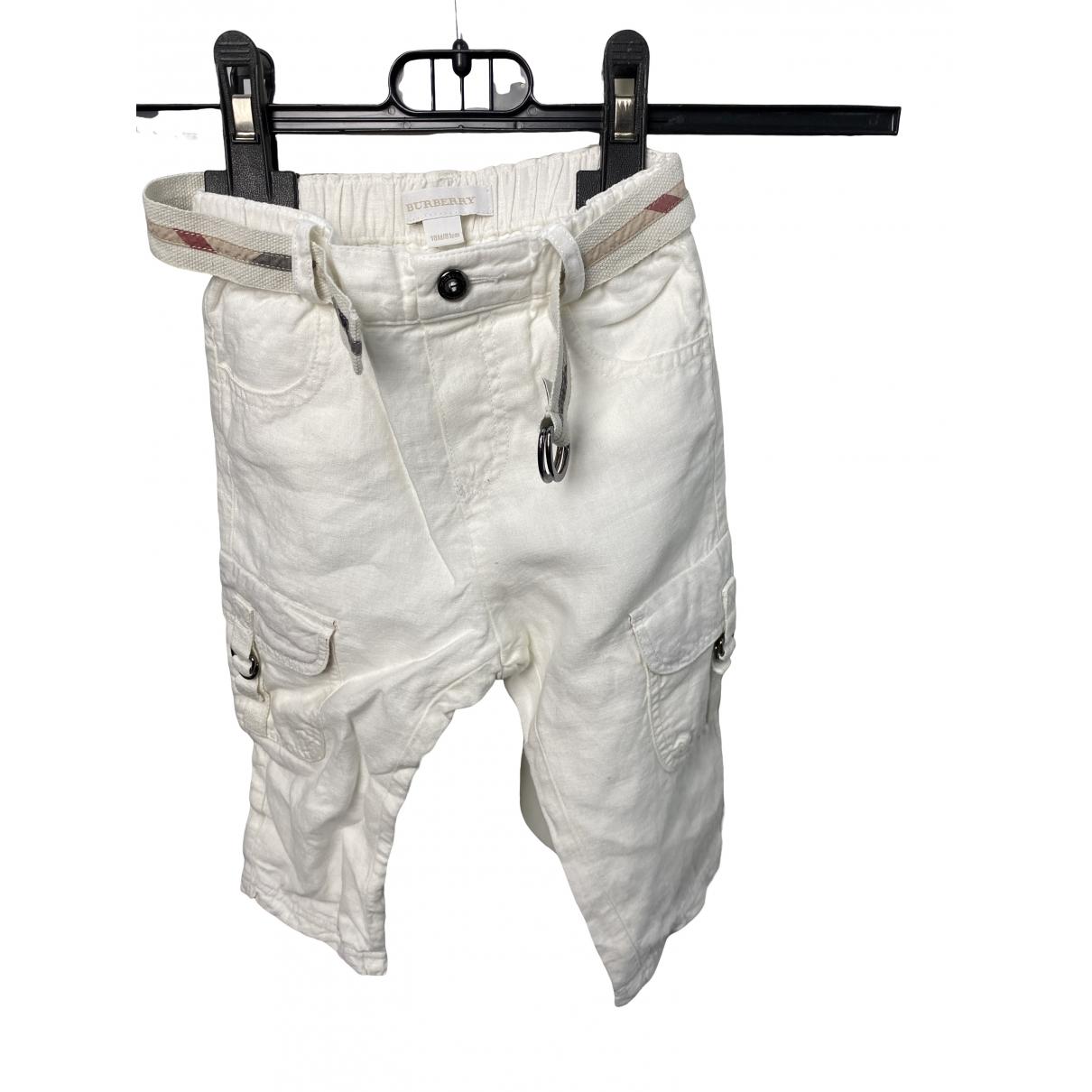 Pantalon de Lino Burberry
