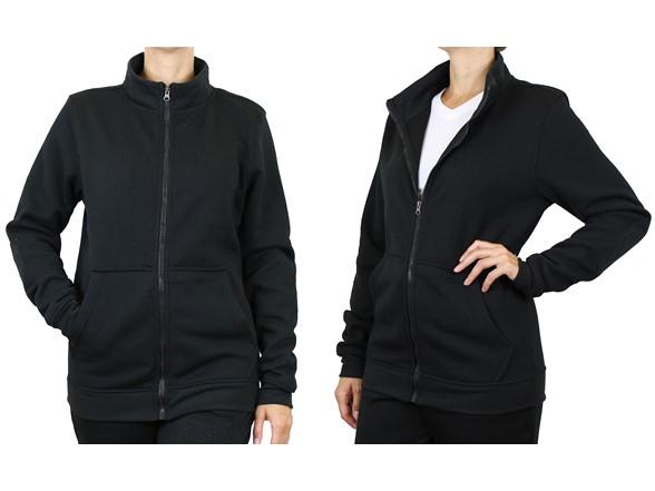 L&m Women's Marled Fleece Lined Hoodie