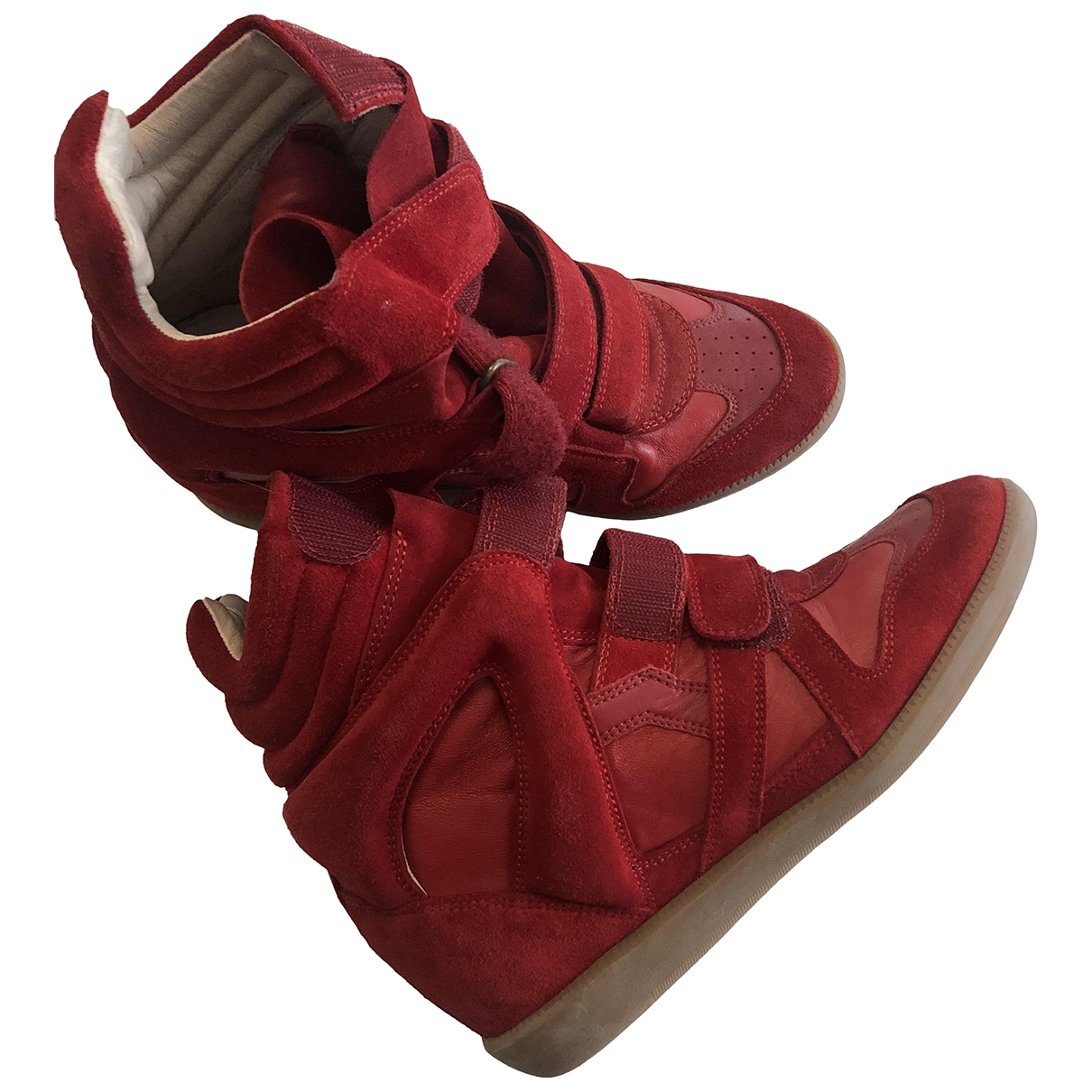 Isabel Marant Etoile \N Red Leather Trainers for Women 40 EU
