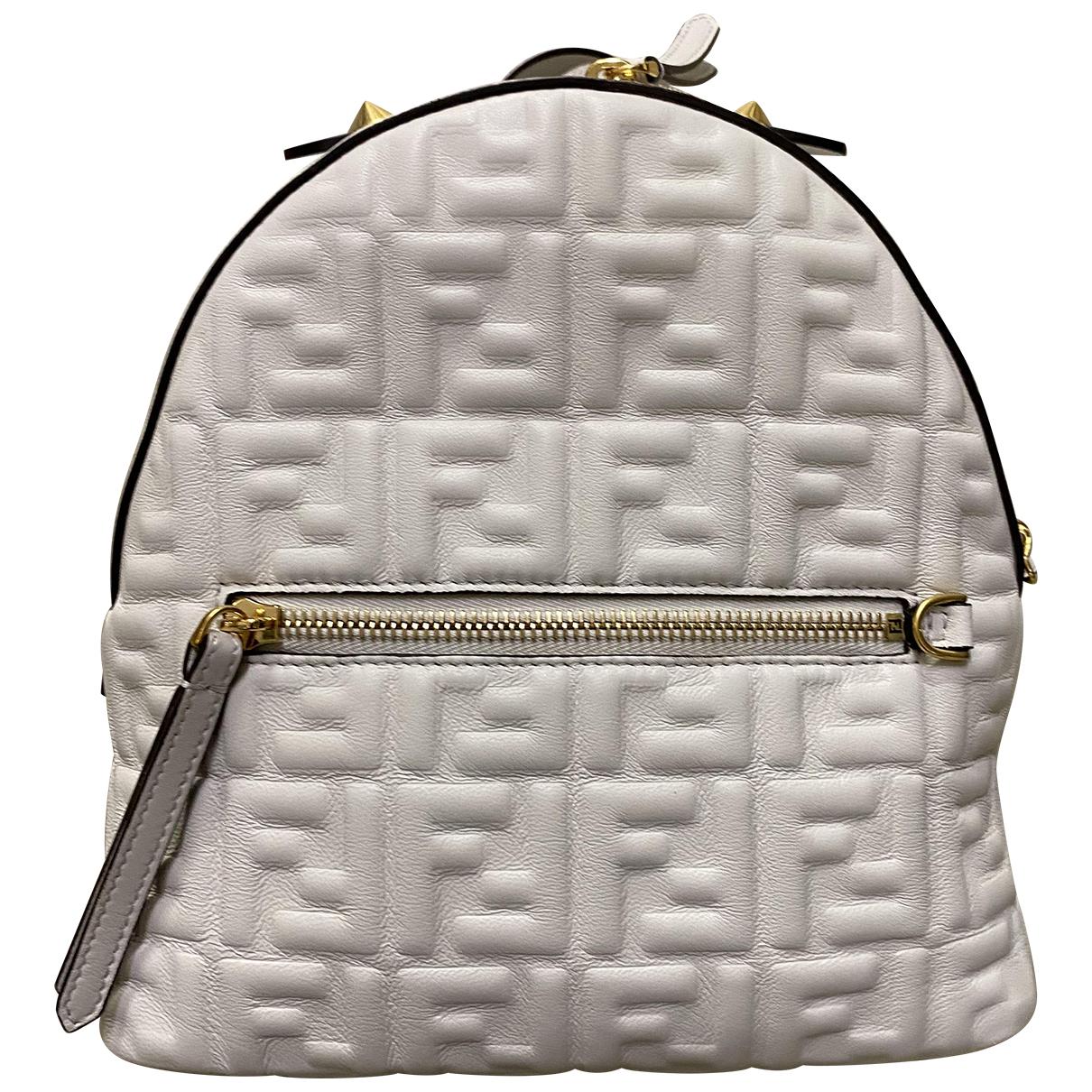 Fendi FF White Leather handbag for Women N