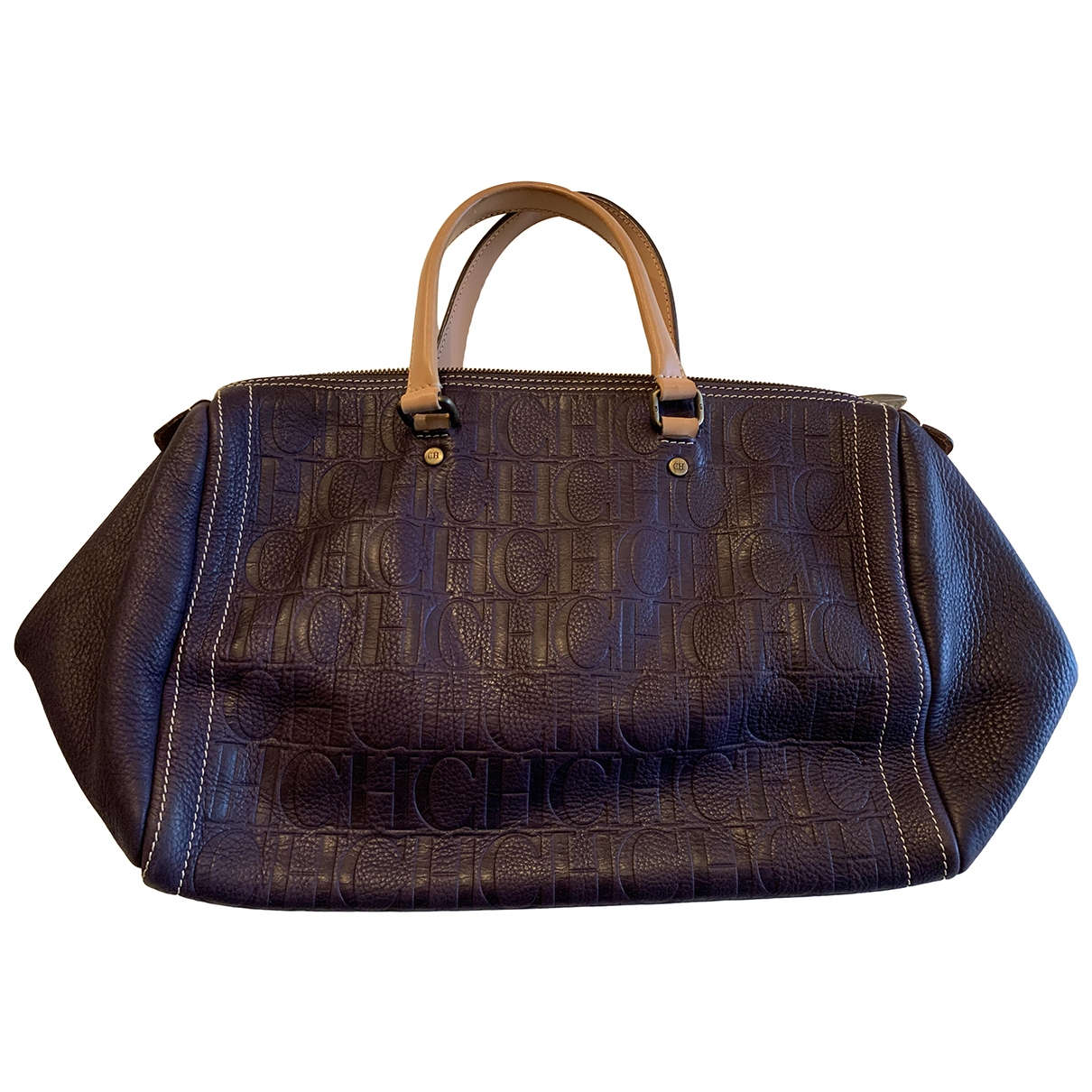 Carolina Herrera \N Purple Leather handbag for Women \N