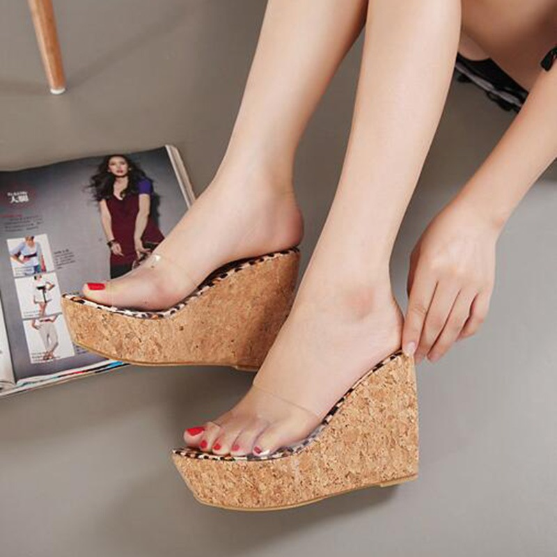 Ericdress Slip-On Platform Wedge Heel PVC Sandals