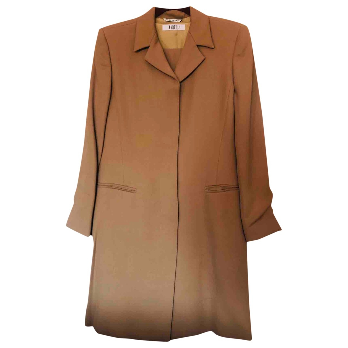 Marella \N Beige Wool jacket for Women 8 US