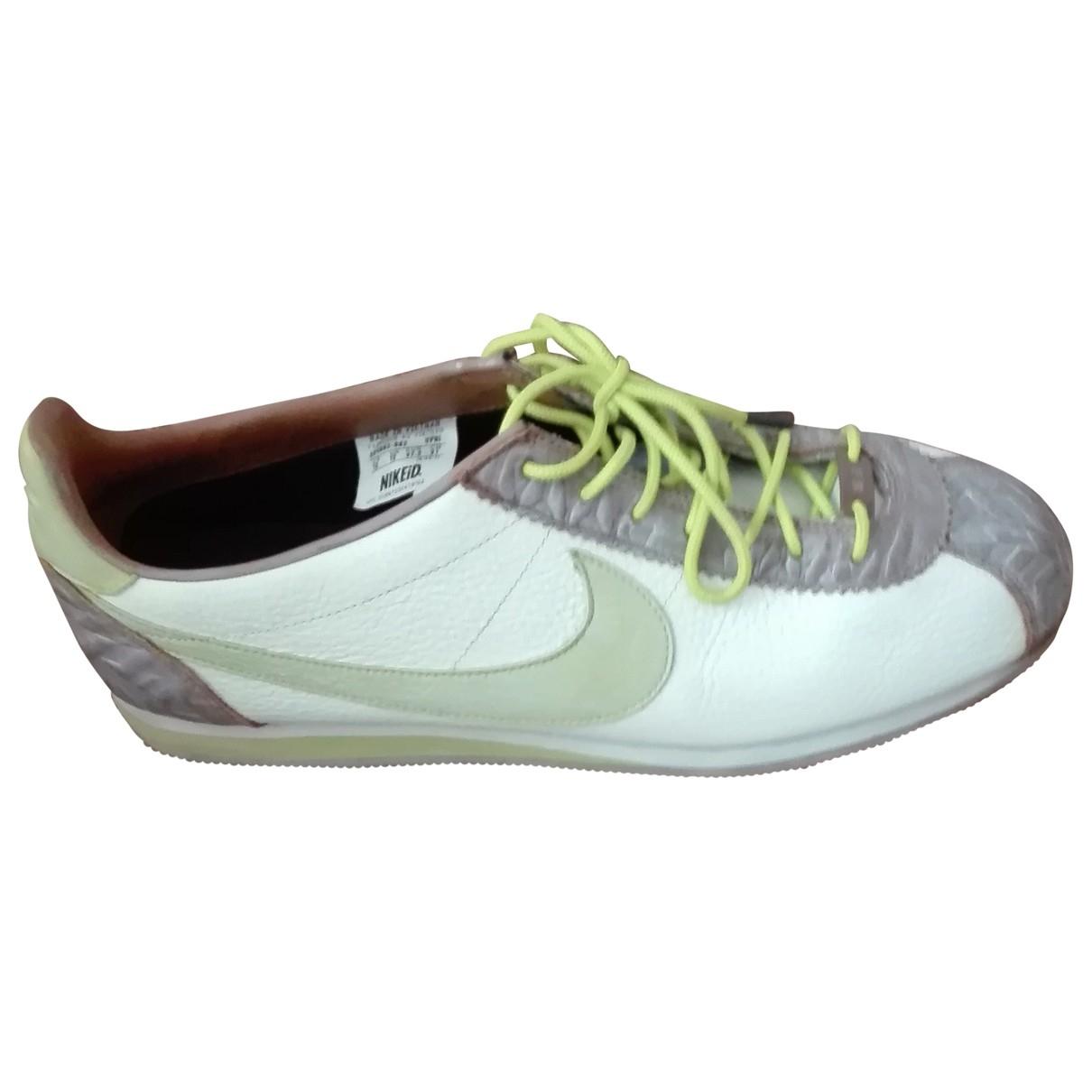 Nike - Baskets Cortez pour homme en cuir - multicolore