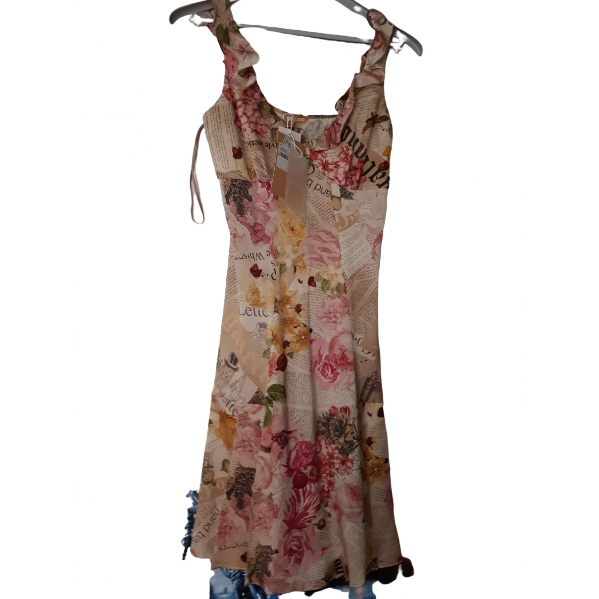 John Galliano \N Multicolour Silk dress for Women 36 FR