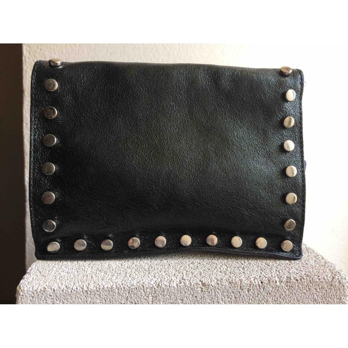 Abaco \N Handtasche in  Schwarz Leder