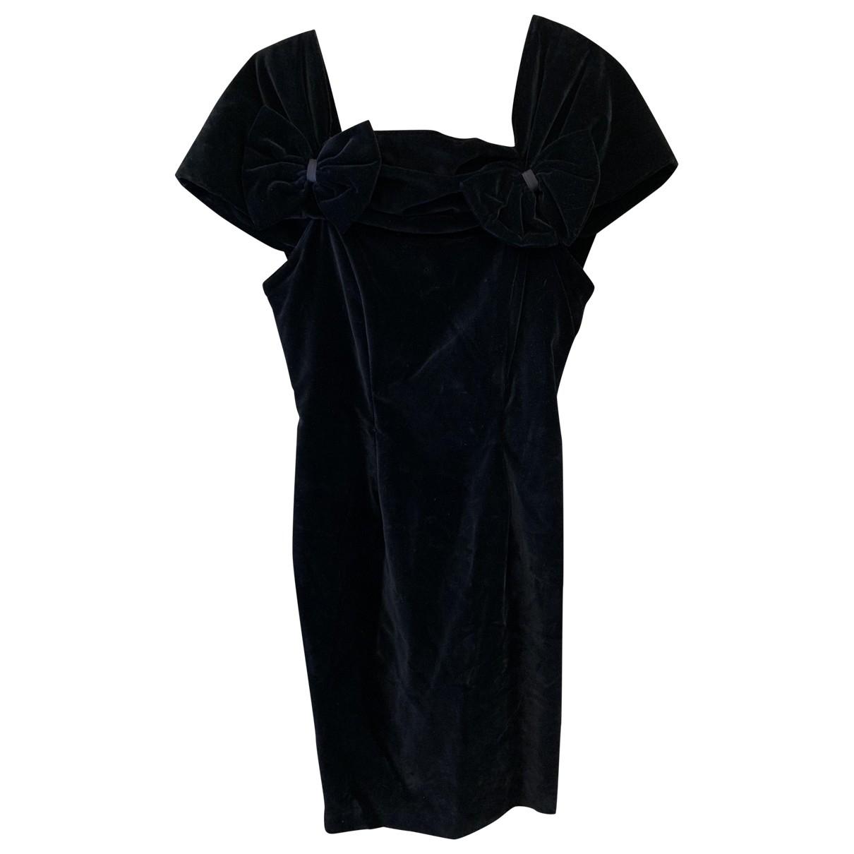 Giorgio Armani \N Kleid in  Schwarz Samt