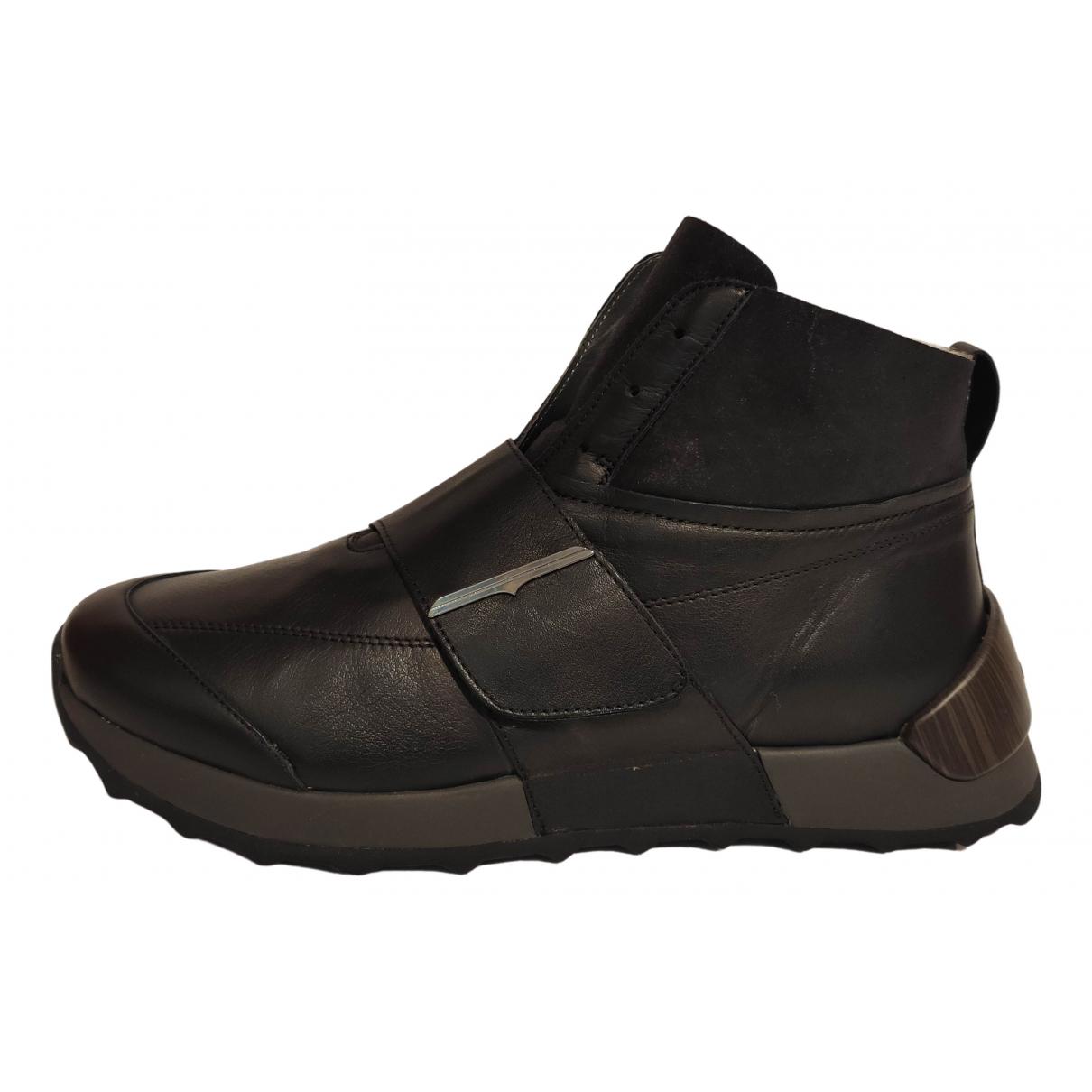 Alberto Guardiani - Baskets   pour homme en cuir - noir