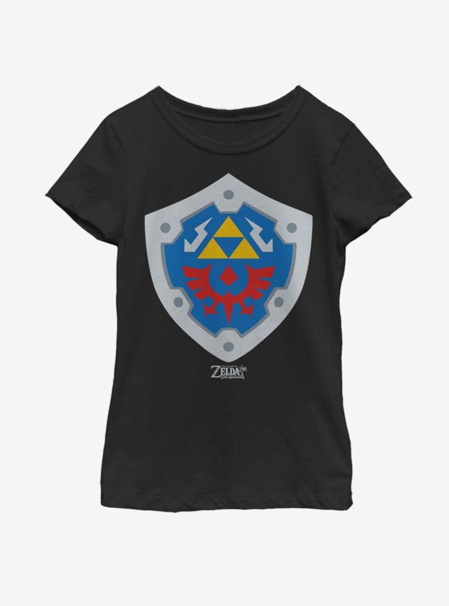 Nintendo The Legend of Zelda: Link's Awakening Hylian Shield Youth Girls T-Shirt