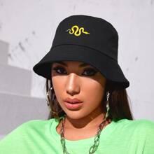 Serpentine Embroidered Bucket Hat