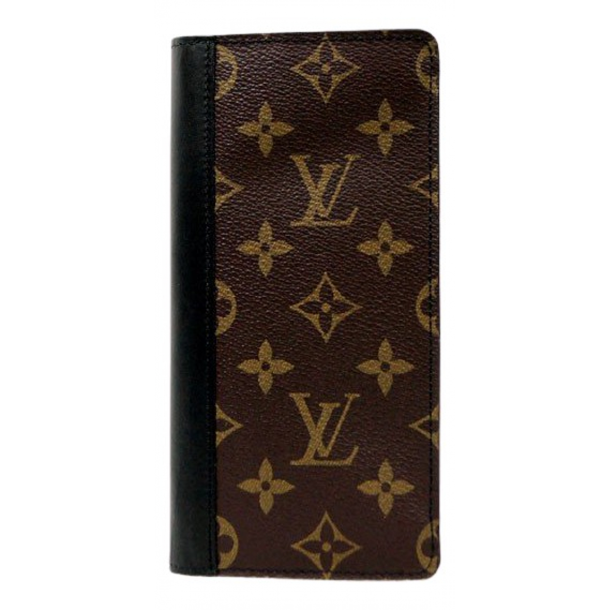 Louis Vuitton Brazza Kleinlederwaren in  Braun Leinen