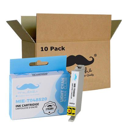 Compatible Epson T048520 cartouche d'encre cyan clair - Moustache - 10/paquet