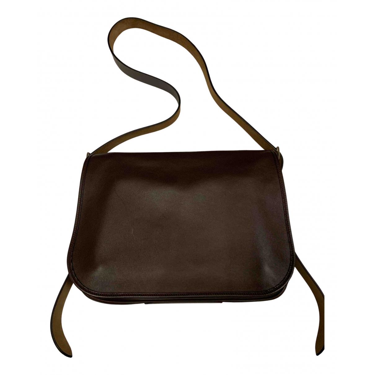 Hermès Barda Brown Leather bag for Men N