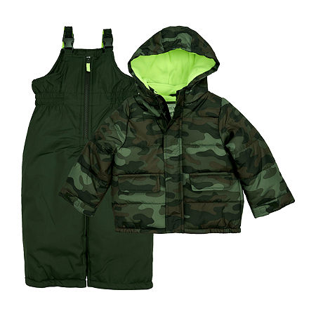 Carter's Baby Boys Heavyweight Camouflage Snow Suit, 24 Months , Green