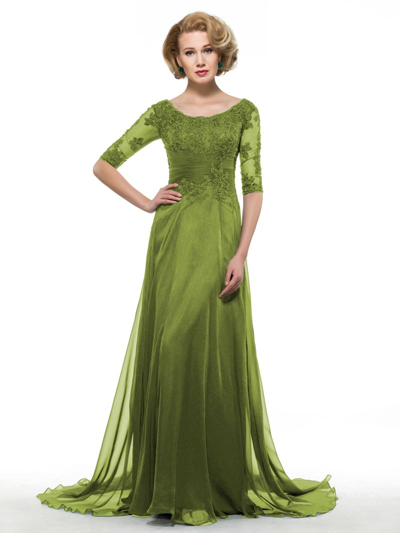 Ericdress Half Sleeves Appliques Mother Of The Bride Dress