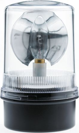 Moflash R201 Incandescent Beacon, 24 V dc, Rotating, Surface Mount