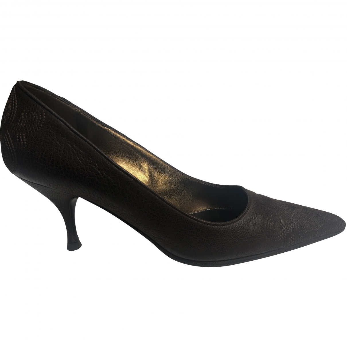 Prada \N Brown Leather Heels for Women 36 EU
