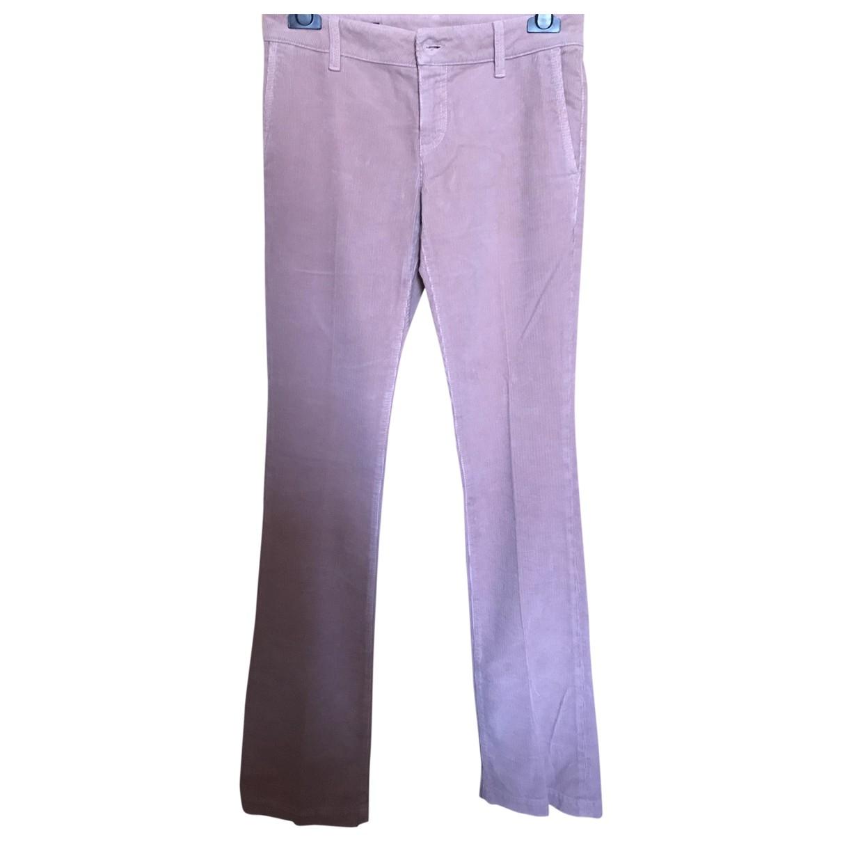 Pantalon recto de Terciopelo Gucci