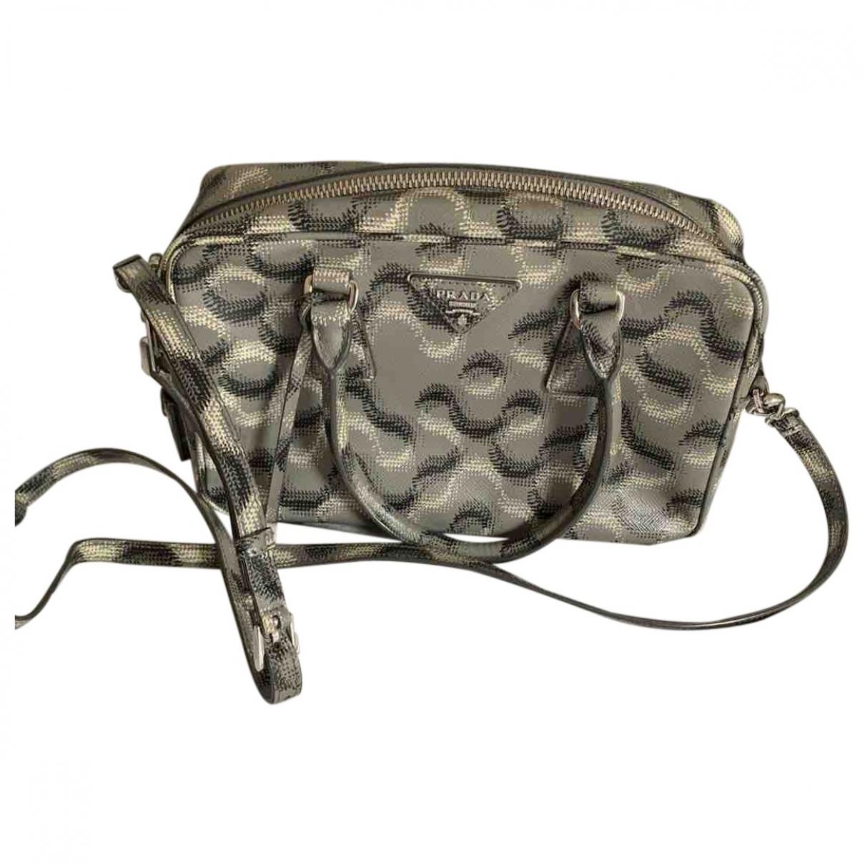 Prada saffiano  Grey Leather handbag for Women \N