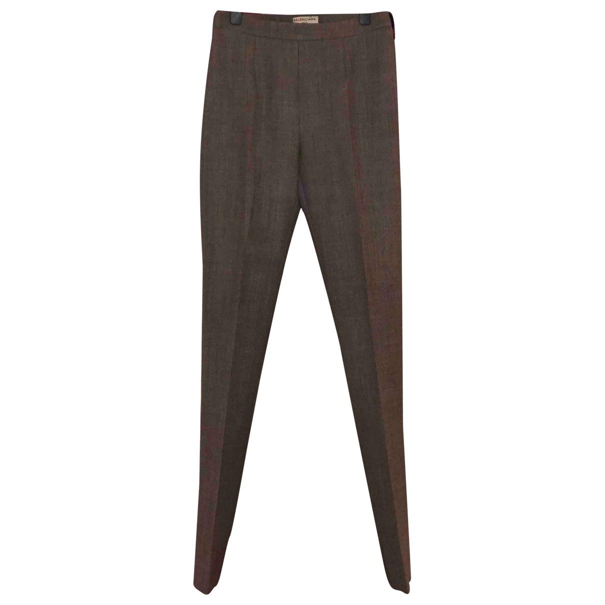 Balenciaga \N Grey Cotton Trousers for Women 36 FR