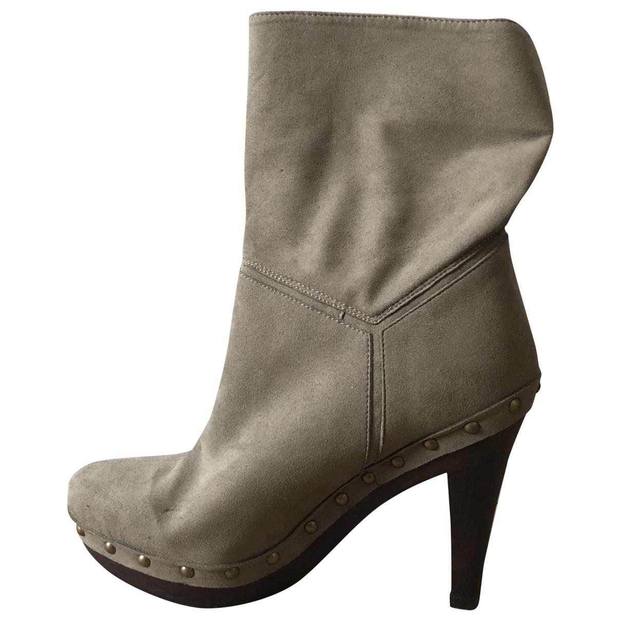 Stella Mccartney \N Grey Cloth Ankle boots for Women 37 EU