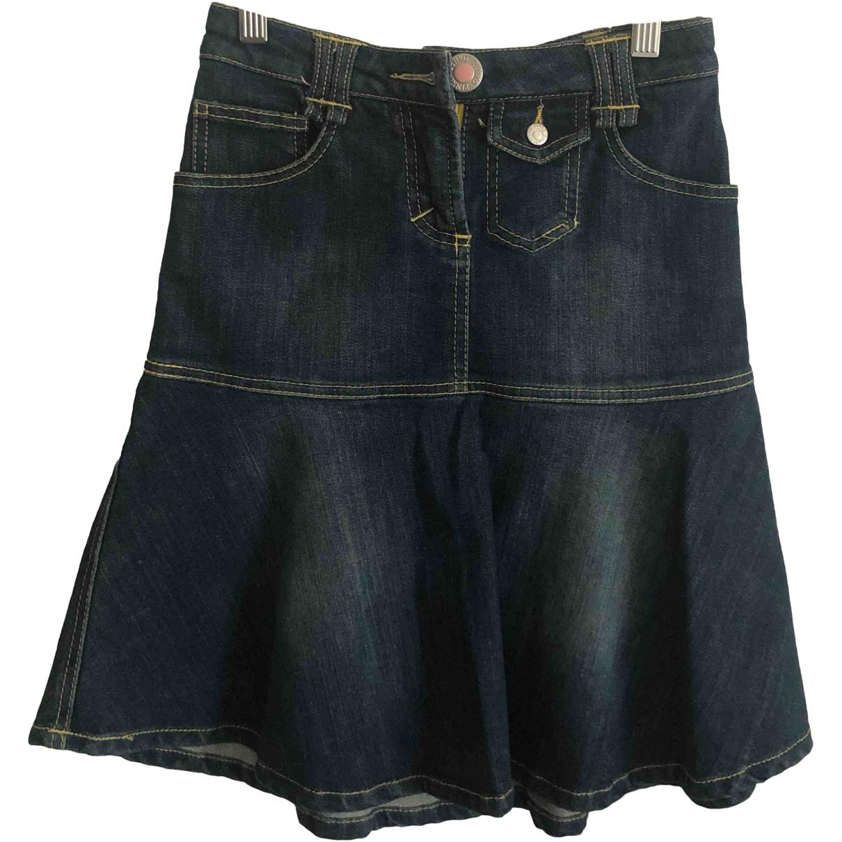 Pinko \N Blue Denim - Jeans skirt for Women 38 IT