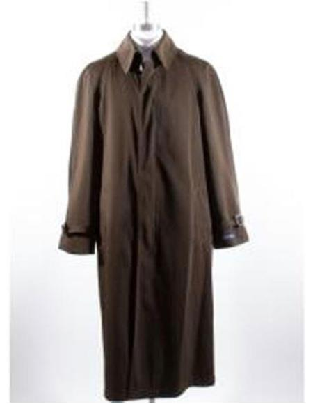 Mens Big And & Tall Trench Coat Brown