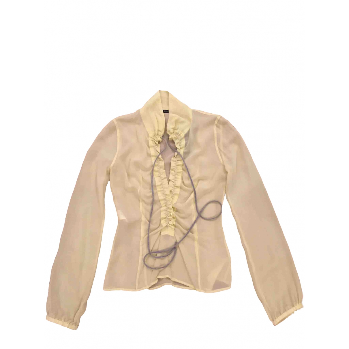 Non Signé / Unsigned \N Yellow Silk  top for Women 40 IT