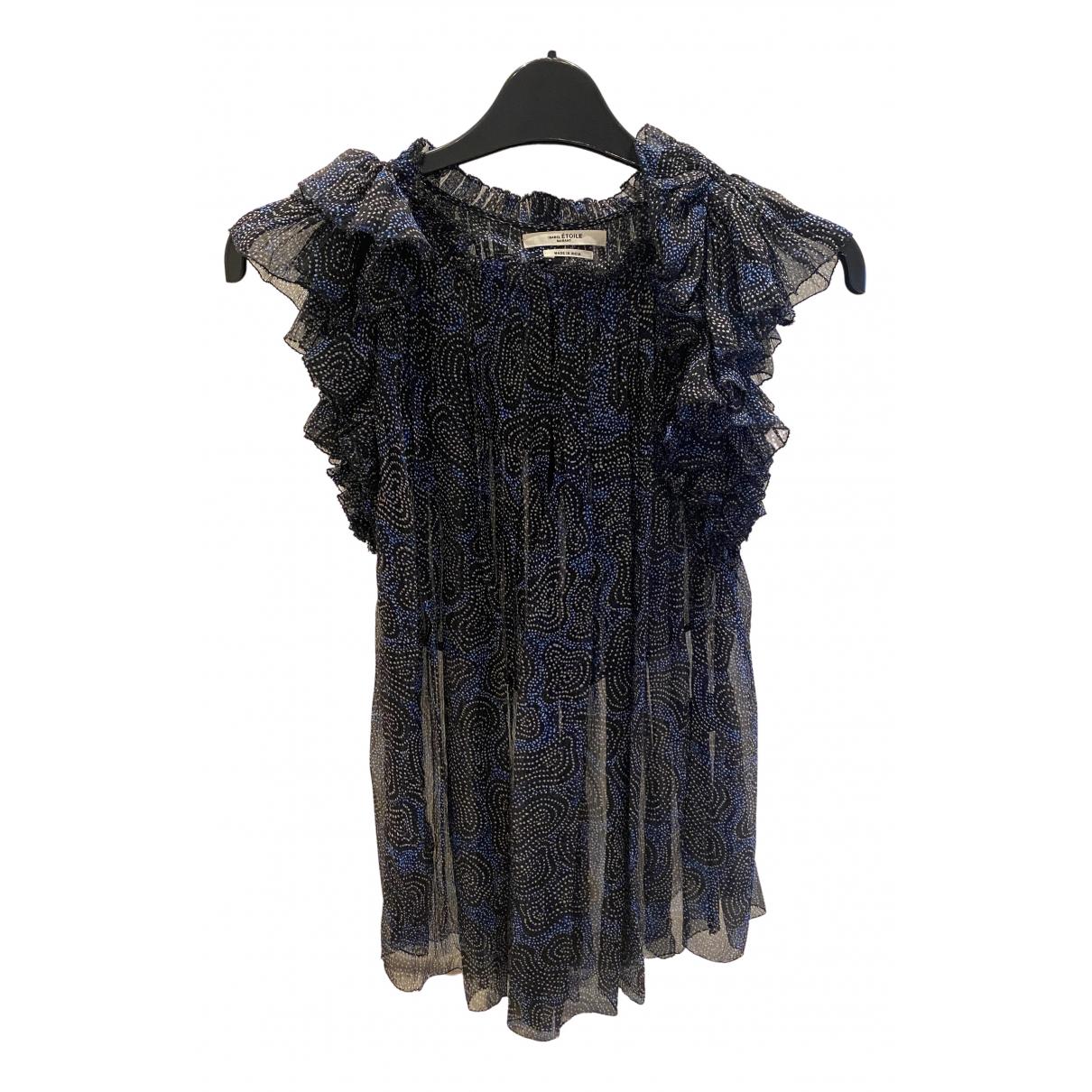Isabel Marant Etoile - Top   pour femme en soie - bleu