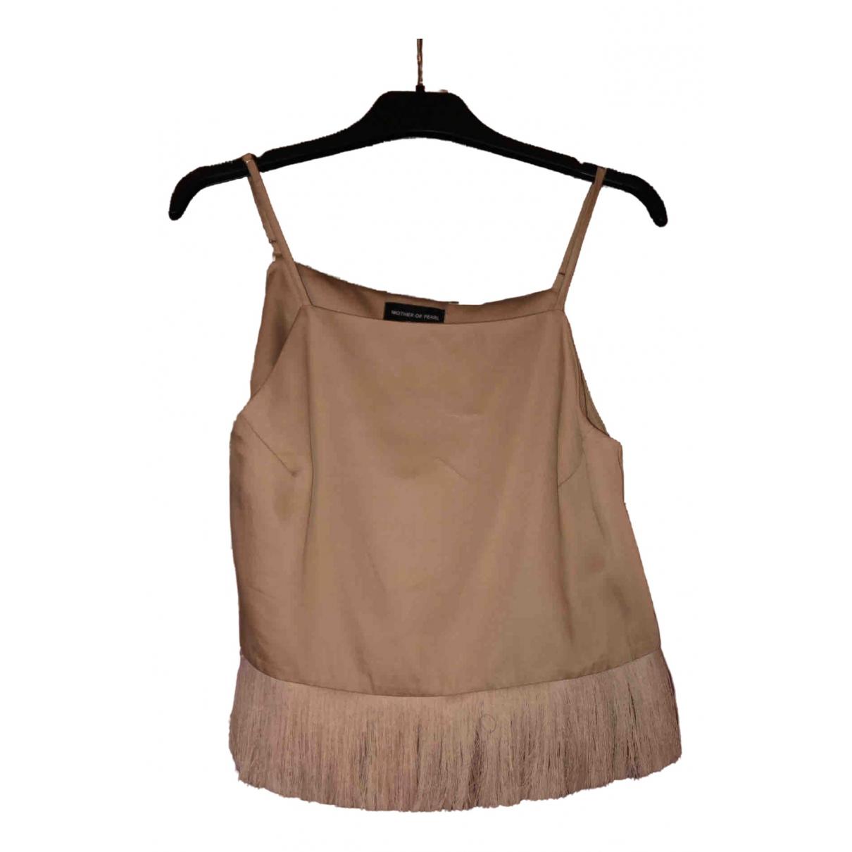 Mother Of Pearl - Top   pour femme en soie - beige