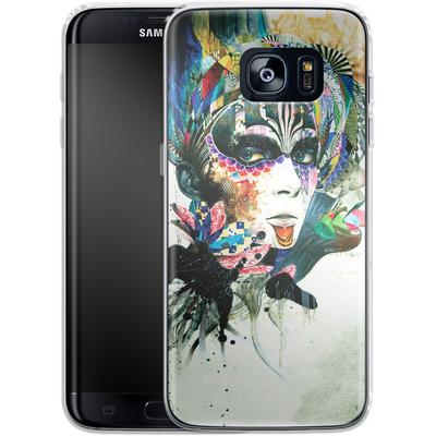 Samsung Galaxy S7 Edge Silikon Handyhuelle - Blossom Desire von Minjae Lee