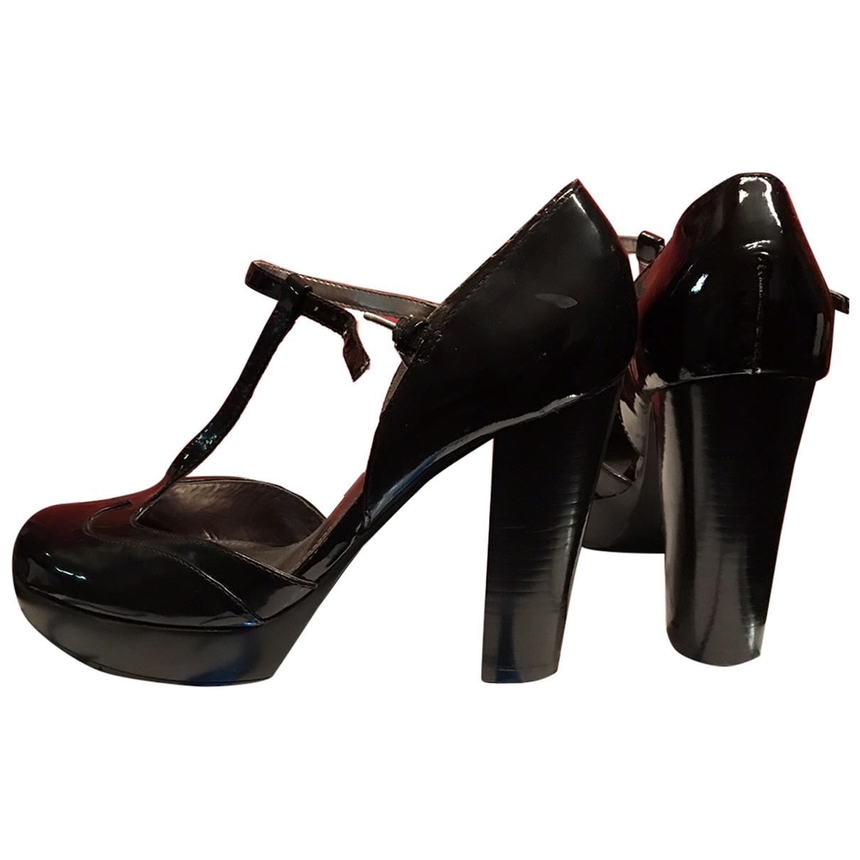 Guess - Escarpins   pour femme en cuir verni - noir