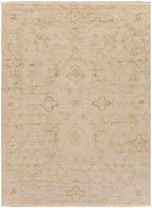 Hillcrest HIL-9018 9 x 13 Rectangle Traditional Rug in Beige  Cream  Khaki  Taupe