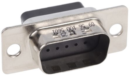 HARTING 2.29mm Pitch Straight Crimp D-sub Connector, Plug, 15 Pin
