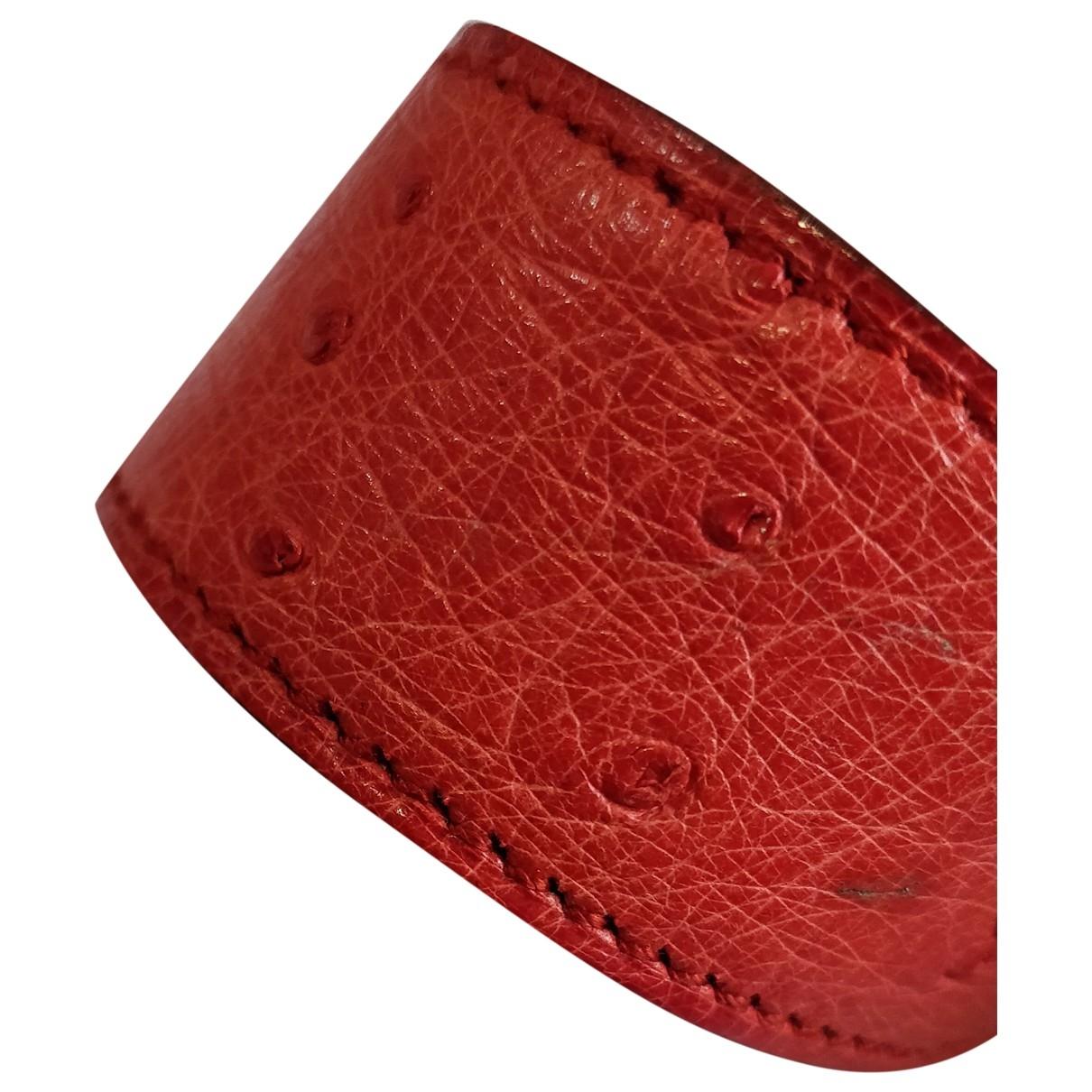 Hermes - Bracelet   pour femme en autruche - rouge