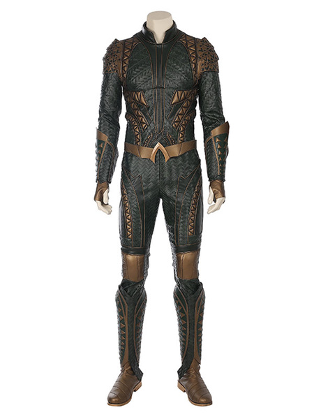 Milanoo DC Comics Justice League Aquaman Cosplay Costume fortnite Carnival