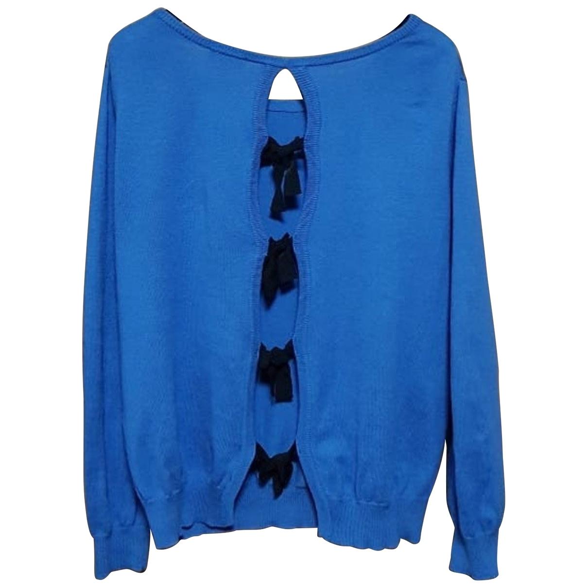 Claudie Pierlot - Pull   pour femme en coton - bleu