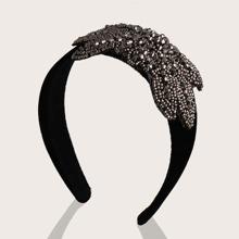 Haarband mit Perlen und Schmetterling Dekor