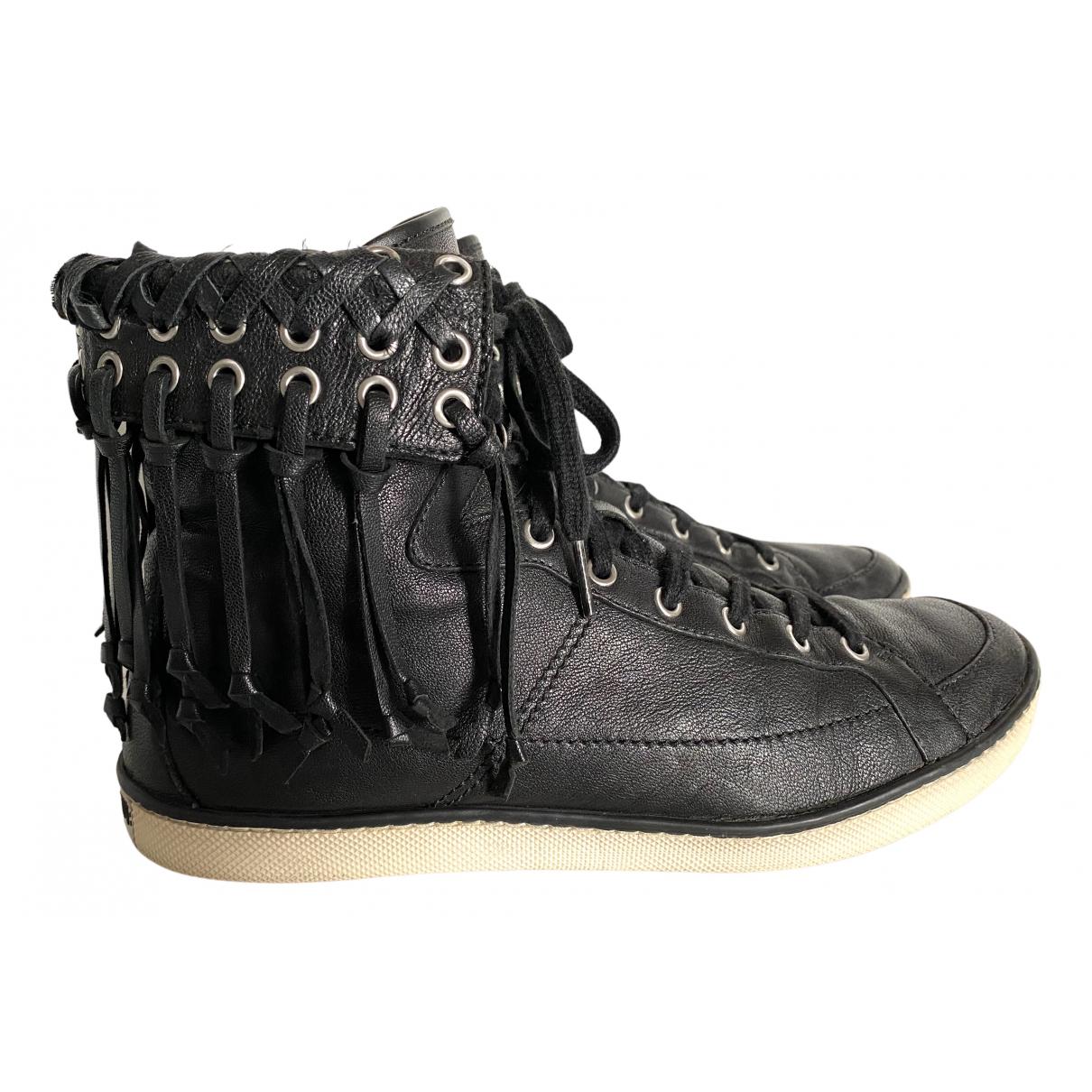 Balmain \N Sneakers in  Schwarz Leder