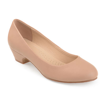 Journee Collection Womens Saar Pumps Block Heel, 12 Medium, Beige