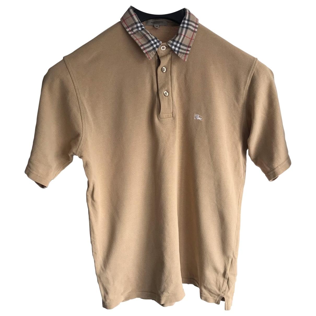 Burberry - Polos   pour homme en coton - beige
