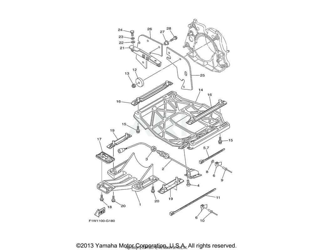 Yamaha OEM 6B6-R1333-01-00 SCREEN, INTAKE