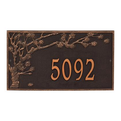 2519OB Personalized Spring Blossom Plaque - Estate - Wall - 1 Line in Oil Rubbed