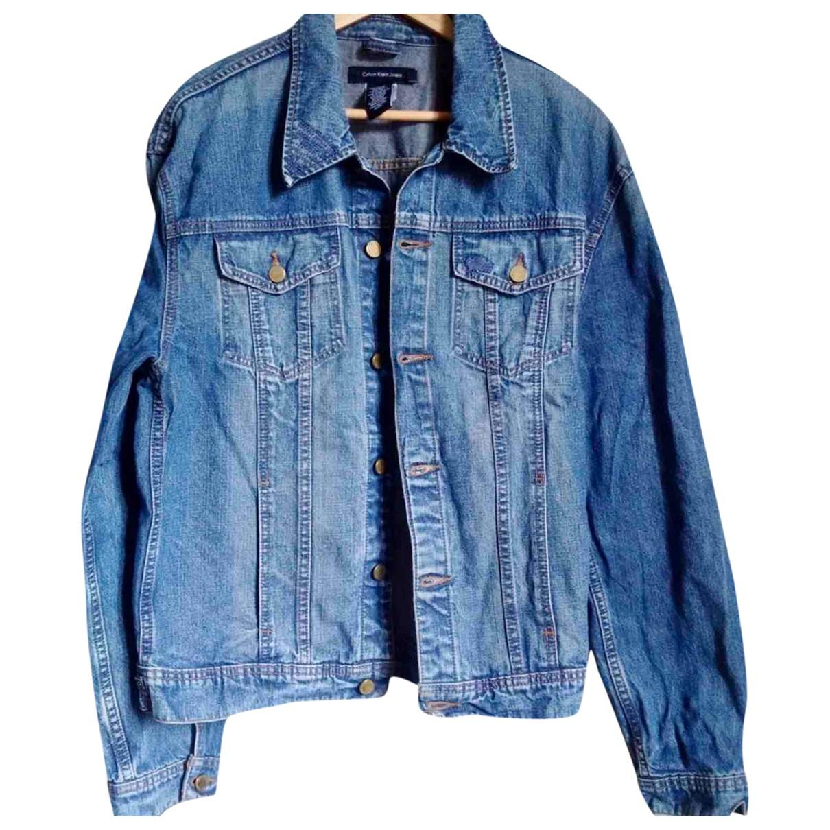 Calvin Klein - Vestes.Blousons   pour homme en coton - bleu