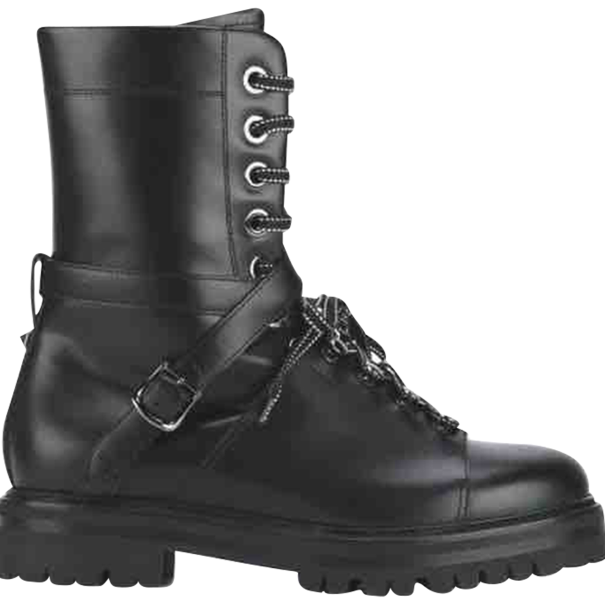 Valentino Garavani Rockstud Black Fur Boots for Women 39 EU