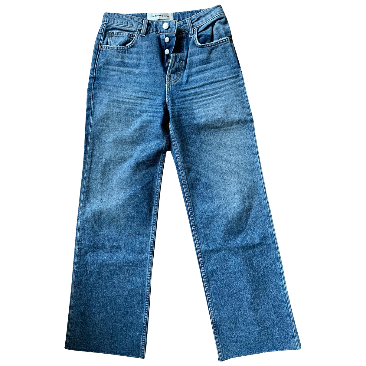Reformation \N Blue Cotton Jeans for Women 25 US
